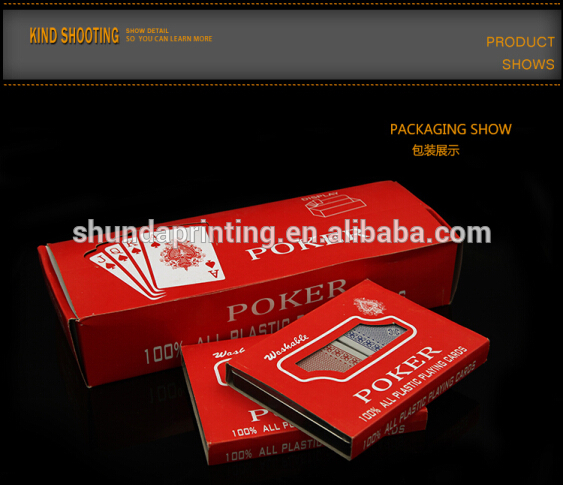 Attractive Price Super Quality plastic customized playing cards