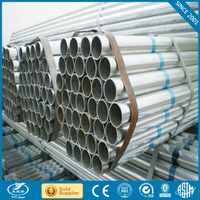 ERW hot dipped galvanized rigid steel pipe shipped by 20GP Container hot dipped galvanized rigid steel pipe