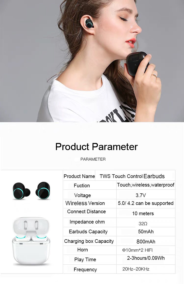 Smallest Wireless Stereo Invisible Headphones Earphone for Sports