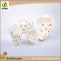 Made in china cheap price decal heart shape eco-friendly ceramic porcelain japanese tea cup set