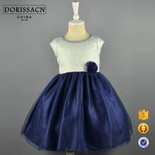 DORISSACN fashion frock design summer small girls without dress for 4/5/6/7 years old girs
