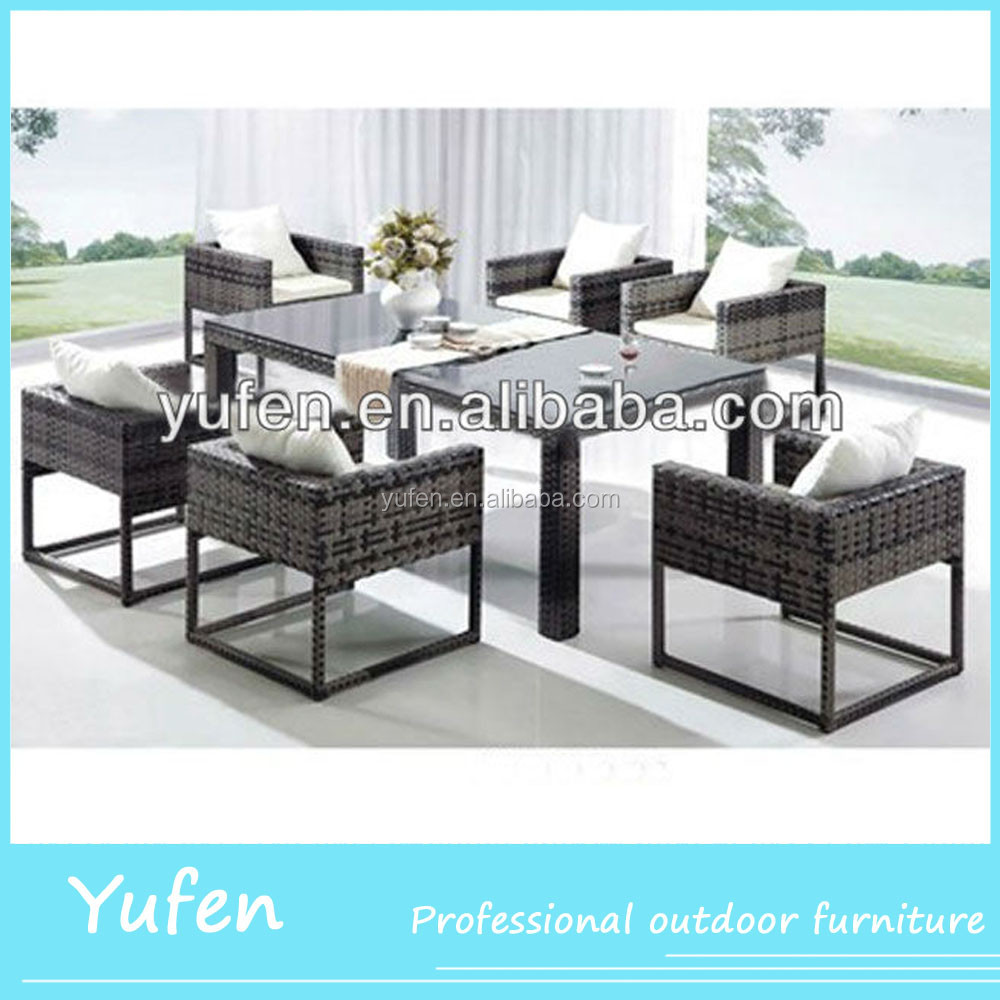 poly rattan/wicker garden dining set