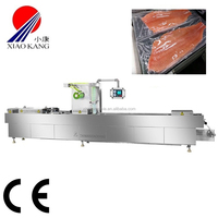 CE flexible film small vacuum thermoforming packaging machine for whole fish