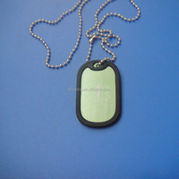custom laser engrave logo pet id tags with silicone cover
