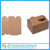 Eco friendly collapsible brown kraft paper food box with ribbon