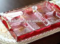 home and hotel product use for Weeding gift and moving gift Acrylic candy tray
