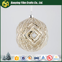 OEM retro gold glass ball blank christmas ornament
