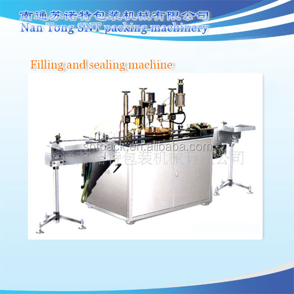 Inflatable aerosol filling and sealing & gas inflation machine