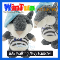 New Best Selling BAB Walking Navy Hamster Toys 2014