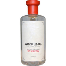 MELAO Alcohol-free Rose Petal Witch Hazel with Aloe Vera ~ 12 oz