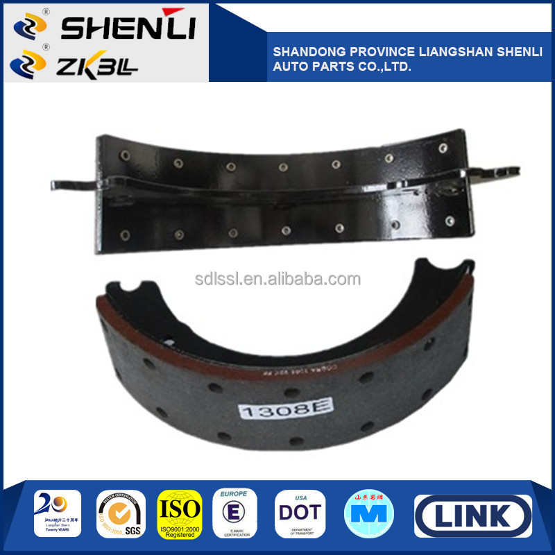 1308Q/P/E Brake shoe lining for Trailer truck
