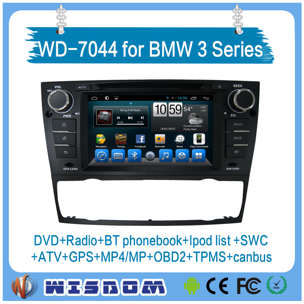 WISDOM car multimedia system for bmw 3 series E90/E91/E92/E93 dvd player player auto radio with gps navigation