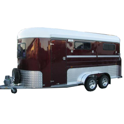 high quality luxury 2 horse trailer with ramp door