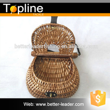 Wholesale cheap handmade wicker fishing creel basket made in china