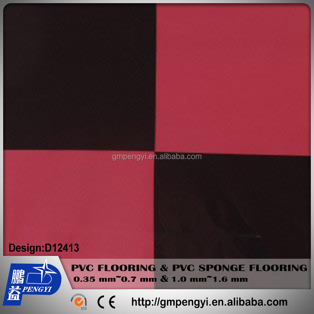 Colorful PVC foamed floor covering