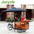 street vending trike cart for popcorn coffee ice cream bread food selling with solar panel