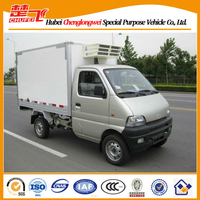 Changan 4*2 gasoline engine mini refrigerator truck