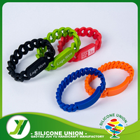 Customized Color wristband silicone bracelet