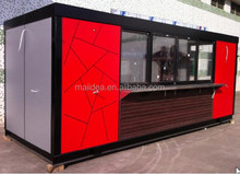 Nice looking and elegant design portable coffee container, shipping container coffee shop, kitchen restaurant container