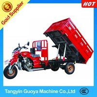 made in china 300cc water-cooling Three wheel cargo Motorcycle with Hydraulic dumping System