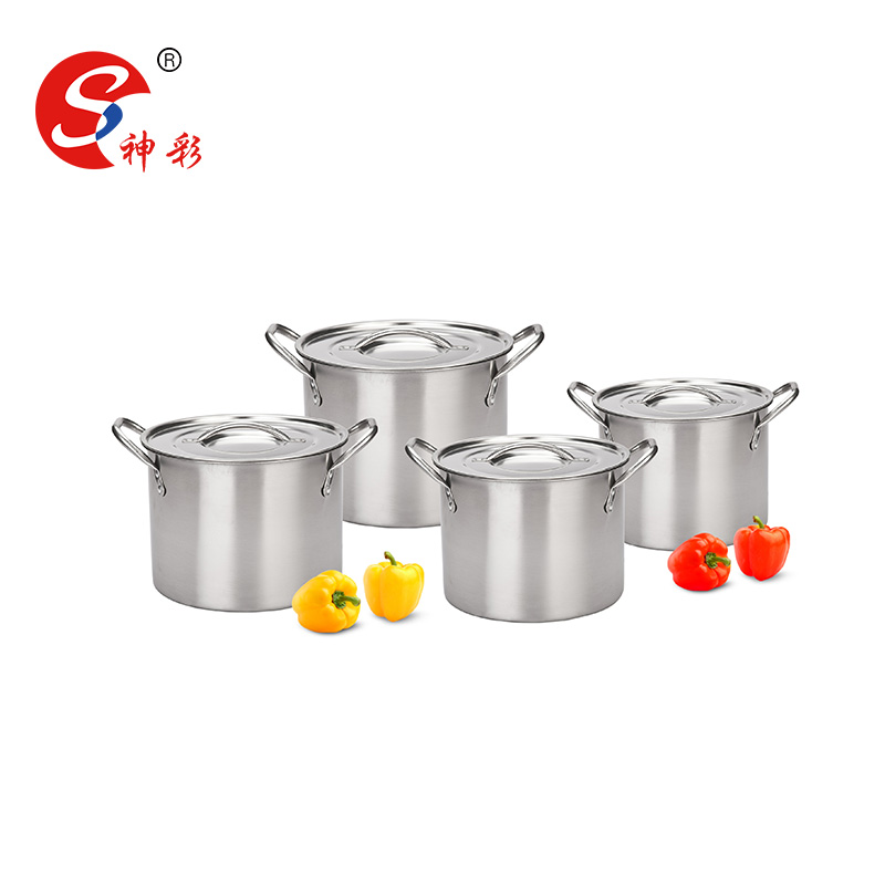 High Quality Hot Pot Industrial Stainless Cooking Pots Stainless Steel Stock Pot 4 pcs