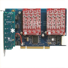 TDM800P analog asterisk card 8 ports fxo fxs pci card