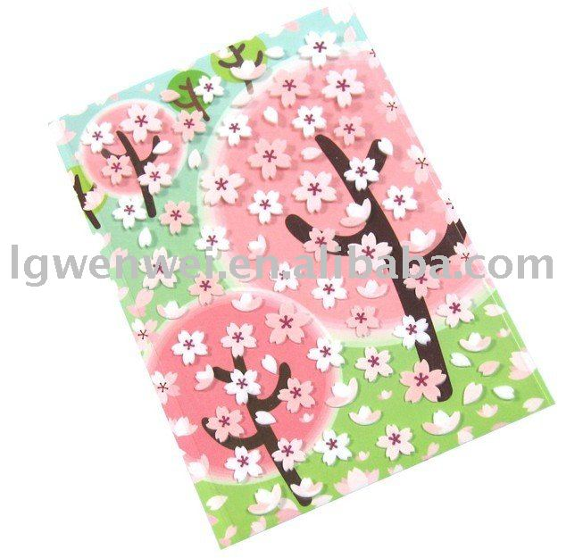 flower foam sticker/bubble sticker