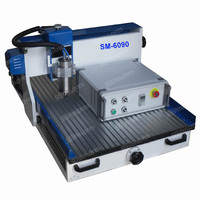 SM-6090with rotary system cnc wood cutting machine