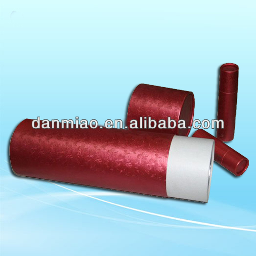 Luxury satin fabric rond tube box