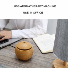 Aroma Essential Oil Diffuser 130ML Aromatherapy Cool Mist Humidifier Wood Grain Ultrasonic Nebulizer