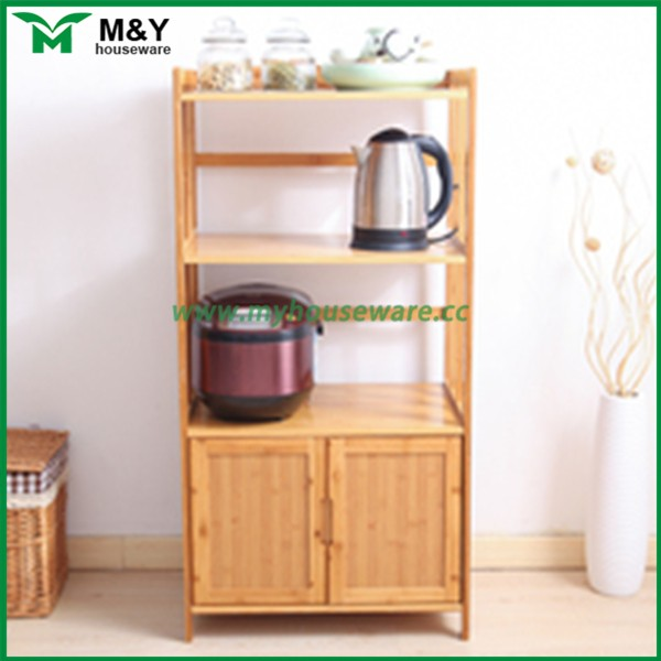 Bamboo wooden kitchen product storage cabinet