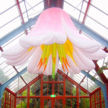 2014 promotional item ceiling giant inflatable flowers wedding stage decoration