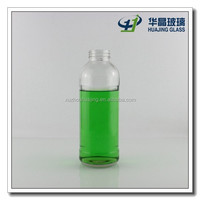 500ml 16 oz clear glass beverage bottle for fruit juice wholesale