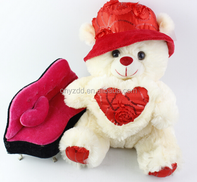 Roses Valentine S Day With Stuff Toys : Valentine s day stuffed animal toys plush bear with a
