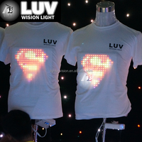 HOT fashion el panel/led el t shirt/light shirt for Party,dj ,new year