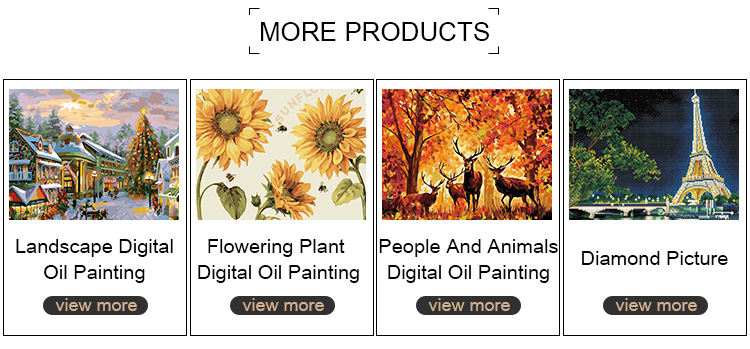 2019 Hot Sale Diy Pictures Digital Drawing Coloring Oil Painting Canvas Oil Painting