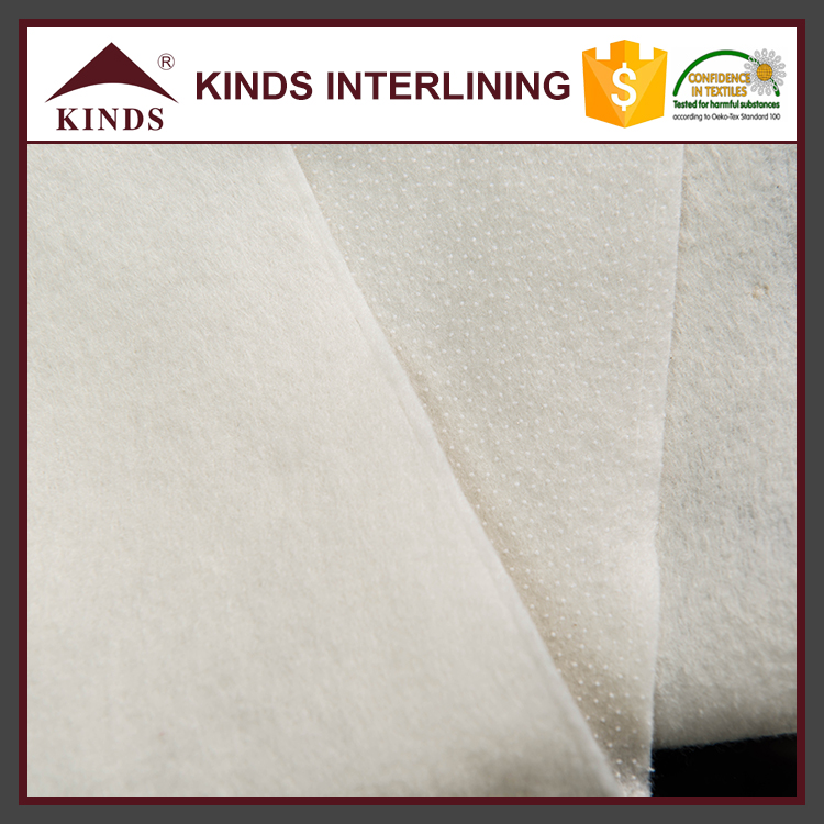 New designed oem service mens suit fabric binding cloth chest interlinings