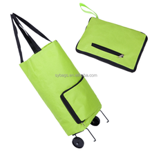 600D Polyester Foldable Trolley Shopping Bag shopping trolly bag