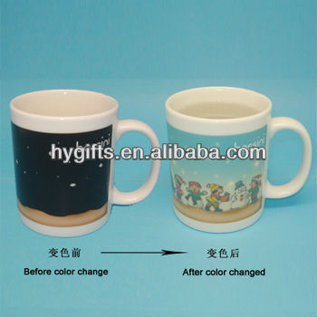 heating color changing mug temperature change cup