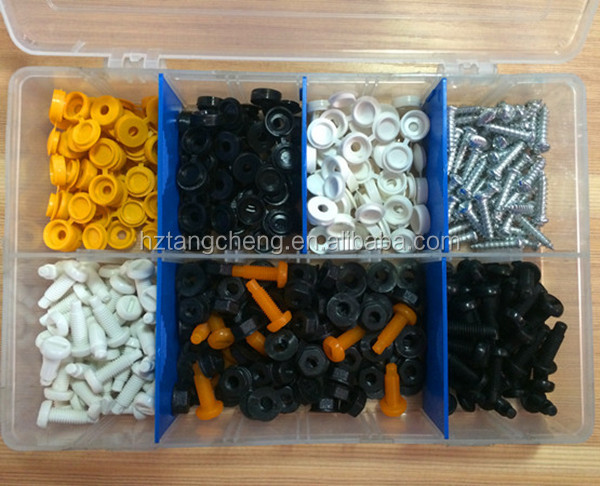 Hardware Assort Kit 330pc Assorted Plastic Nut Screw and Plastic Knob Bolt