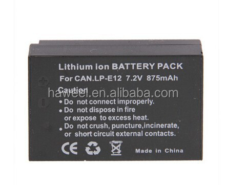 875mAh, 7.2V LP-E12 Battery for Canon Digital Camera