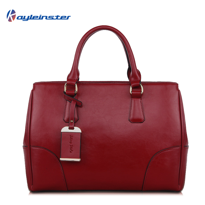 2015 Famous Brand Genuine Leather Women Handbag Large Capacity Classic Solid Tote Ladies Shoulder Bag High Quality Women Bag