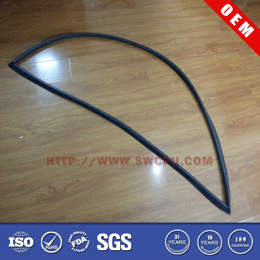 Flat soundproof soft rubber seal strip for car