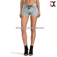2015 Cotton hybrid Shorts jeans for young ladys tight skinny fit (JX80006)