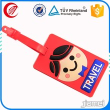 Personalized logo 3d travel bright colored luggage tags