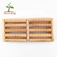 Factory Direct Sale Wooden Solid Wood Roller Foot Massager Bath Body Care Foot Massage