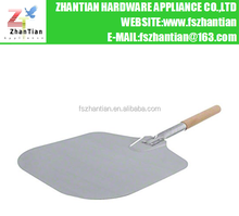 "Aluminum Pizza Peel with Wood Handle 14""x16"" pizza shovel"
