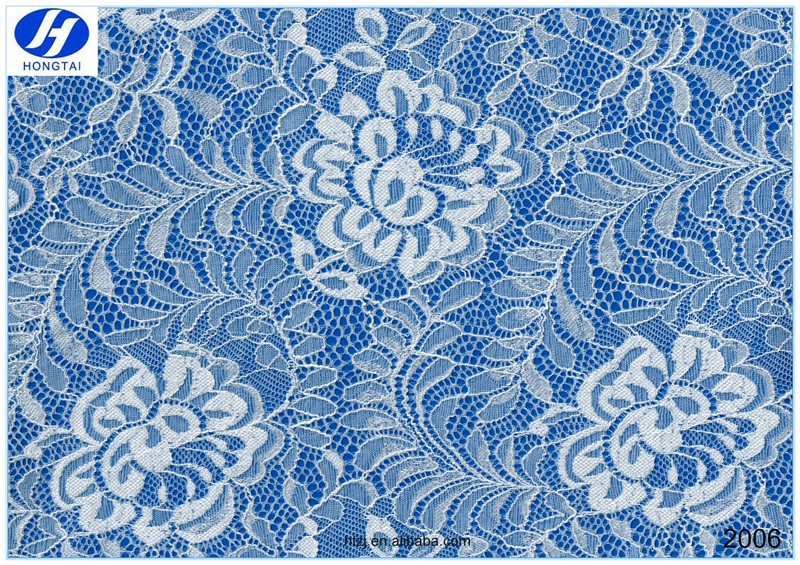 Hongtai factory price flower lace fabrics / modern design textiles farbic china supplier