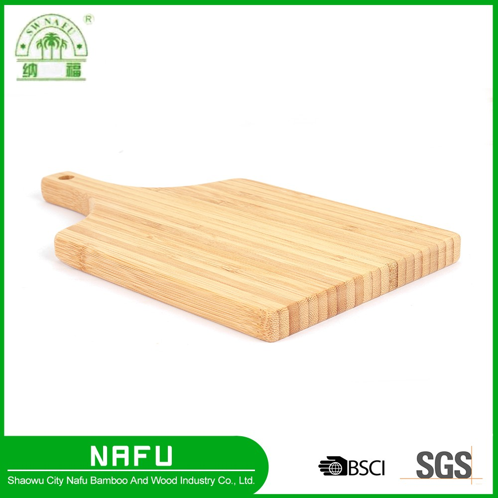 Custom new kitchen bamboo pizza cutting board with handle
