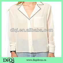 brightly colored ladys summer chiffon blouses